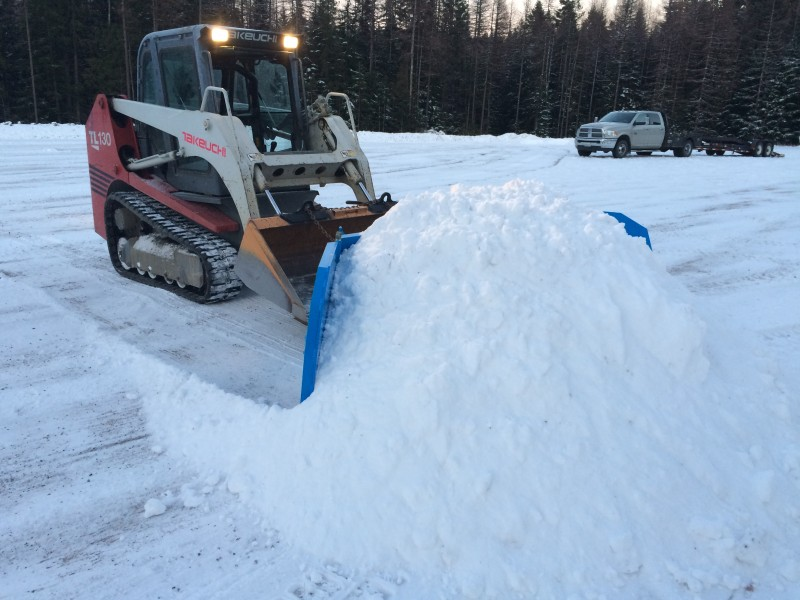 Use your bobcat with our snowplow
