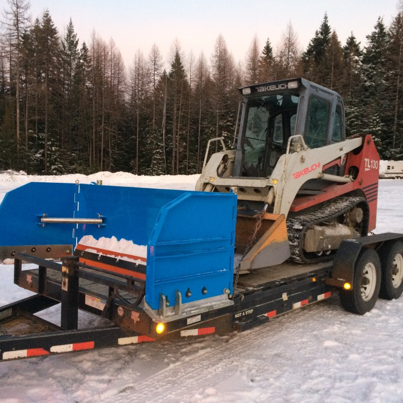 Haul it on a flatbed trailer